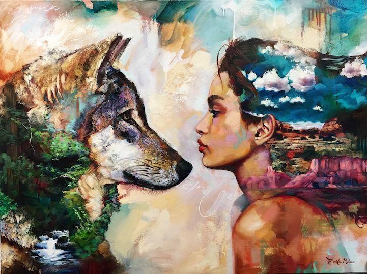 wolf-women-painting